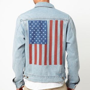 Flag Jean Jacket American apparel unisex